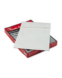 QUAR4292 OPEN END EXPANSION MAILERS, DUPONT TYVEK, #15 1/2, CHEESE BLADE FLAP, SELF-ADHESIVE CLOSURE, 12 X 16, WHITE, 25/BOX