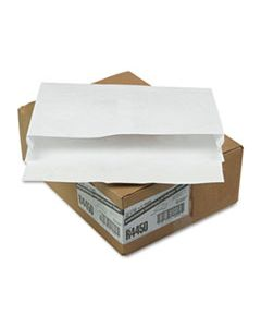 QUAR4450 OPEN SIDE EXPANSION MAILERS, DUPONT TYVEK, #15, CHEESE BLADE FLAP, SELF-ADHESIVE CLOSURE, 10 X 15, WHITE, 100/CARTON