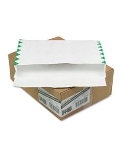 QUAR4460 OPEN SIDE EXPANSION MAILERS, DUPONT TYVEK, #15, COMMERCIAL FLAP, SELF-ADHESIVE CLOSURE, 10 X 15, WHITE, 100/CARTON