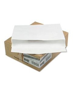 QUAR4492 OPEN SIDE EXPANSION MAILERS, DUPONT TYVEK, #15 1/2, CHEESE BLADE FLAP, SELF-ADHESIVE CLOSURE, 12 X 16, WHITE, 100/CARTON