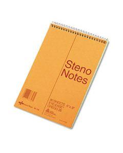 RED36746 STANDARD SPIRAL STENO BOOK, GREGG RULE, 6 X 9, EYE-EASE GREEN, 80 SHEETS