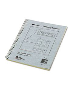RED43647 DUPLICATE LABORATORY NOTEBOOKS, 4 SQ/IN QUADRILLE RULE, 11 X 9, ASSORTED SHEET COLORS, 100 SHEETS