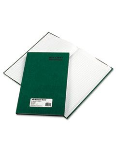RED56111 EMERALD SERIES ACCOUNT BOOK, GREEN COVER, 150 PAGES, 12 1/4 X 7 1/4