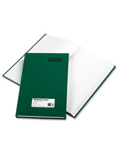 RED56131 EMERALD SERIES ACCOUNT BOOK, GREEN COVER, 300 PAGES, 12 1/4 X 7 1/4