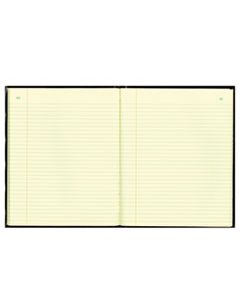 RED56211 TEXTHIDE RECORD BOOK, BLACK/BURGUNDY, 150 GREEN PAGES, 10 3/8 X 8 3/8