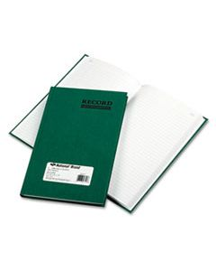 RED56521 EMERALD SERIES ACCOUNT BOOK, GREEN COVER, 200 PAGES, 9 5/8 X 6 1/4