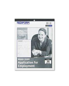 REDM66026NR EMPLOYMENT APPLICATION, 8 1/2 X 11, 50 FORMS