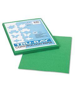 PAC102960 TRU-RAY CONSTRUCTION PAPER, 76LB, 9 X 12, HOLIDAY GREEN, 50/PACK
