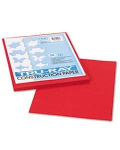 PAC102993 TRU-RAY CONSTRUCTION PAPER, 76LB, 9 X 12, HOLIDAY RED, 50/PACK