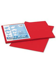 PAC102994 TRU-RAY CONSTRUCTION PAPER, 76LB, 12 X 18, HOLIDAY RED, 50/PACK