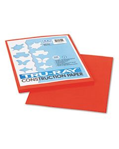 PAC103002 TRU-RAY CONSTRUCTION PAPER, 76LB, 9 X 12, ORANGE, 50/PACK