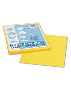 PAC103004 TRU-RAY CONSTRUCTION PAPER, 76LB, 9 X 12, YELLOW, 50/PACK