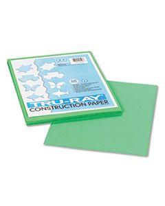 PAC103006 TRU-RAY CONSTRUCTION PAPER, 76LB, 9 X 12, FESTIVE GREEN, 50/PACK