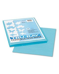 PAC103007 TRU-RAY CONSTRUCTION PAPER, 76LB, 9 X 12, TURQUOISE, 50/PACK
