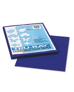 PAC103017 TRU-RAY CONSTRUCTION PAPER, 76LB, 9 X 12, ROYAL BLUE, 50/PACK