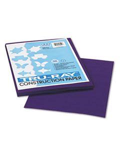 PAC103019 TRU-RAY CONSTRUCTION PAPER, 76LB, 9 X 12, PURPLE, 50/PACK