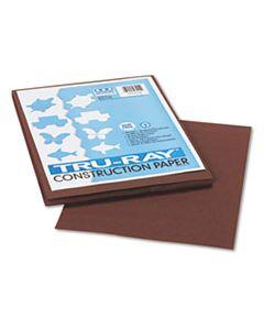 PAC103024 TRU-RAY CONSTRUCTION PAPER, 76LB, 9 X 12, DARK BROWN, 50/PACK