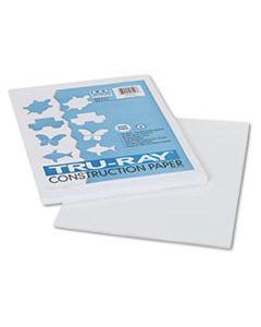 PAC103026 TRU-RAY CONSTRUCTION PAPER, 76LB, 9 X 12, WHITE, 50/PACK