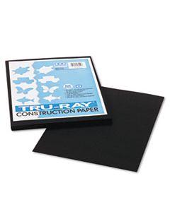 PAC103029 TRU-RAY CONSTRUCTION PAPER, 76LB, 9 X 12, BLACK, 50/PACK