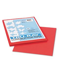 PAC103030 TRU-RAY CONSTRUCTION PAPER, 76LB, 9 X 12, RED, 50/PACK