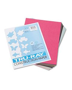 PAC103031 TRU-RAY CONSTRUCTION PAPER, 76LB, 9 X 12, ASSORTED STANDARD COLORS, 50/PACK