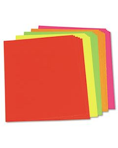 PAC104234 NEON COLOR POSTER BOARD, 28 X 22, GREEN/ORANGE/PINK/RED/YELLOW, 25/CARTON