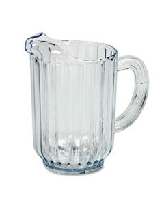 RCP333800CR BOUNCER PLASTIC PITCHER, 60OZ, CLEAR