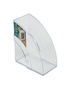 RUB96502ROS OPTIMIZERS DELUXE PLASTIC MAGAZINE RACK, 5 1/4 X 9 X 11 1/8, CLEAR