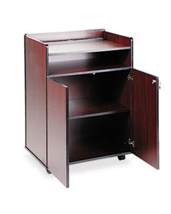 SAF8919MH EXECUTIVE MOBILE PRESENTATION STAND, 29.5W X 20.5D X 40.75H, MAHOGANY