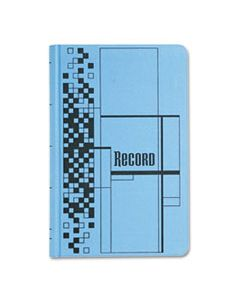 ABFARB712CR5 RECORD LEDGER BOOK, BLUE CLOTH COVER, 500 7 1/4 X 11 3/4 PAGES