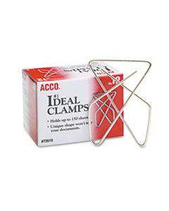 ACC72610 IDEAL CLAMPS, LARGE (NO. 1), SILVER, 12/BOX