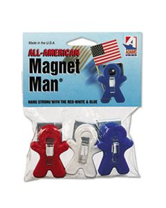 "ADM3303523241 ALL AMERICAN MAGNET MAN, 0.25"", ASSORTED COLORS, 3/PACK"