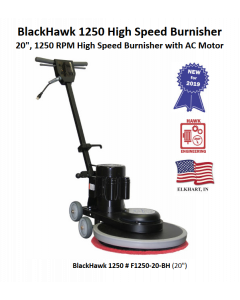 BLACKHAWK 1250 RPM BURNISHER,  1-1/2 HP TEFC AC 115V 50/60 Hz WITH A 14-3 TWO PIECE POWER CORD
