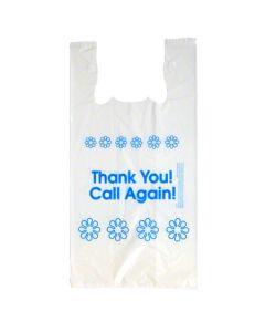 CAL-12722H-W BAG POLY T-SHIRT 12x7x22 1.2ML 1C1S THANK YOU HEAVY LDPE