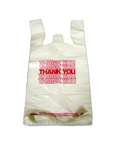CD-12824D BAG POLY T-SHIRT 12x7.5x24 16mc WHT 1/5 THANK YOU 700/CS