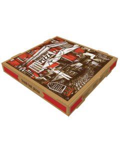 PB-COR1010K PIZZA BOX COR 10X10 KRAFT 50/CS B FLUTE STOCK PRINT