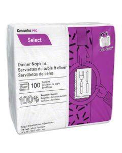 CT-N060 NAP DINNER WHT 2PLY 15X15 1/8 FOLD PILLOW-PAK 3000/CS