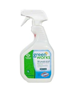 CP-00459 CLOROX GREEN WORKS NATURAL GLASS & SURFACE CLEANER 32oz 12/CS