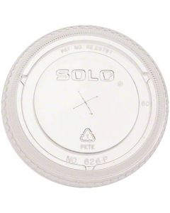 SO-636TS SOLO PETE PLASTIC FLAT COLD CUP LID FOR 32oz CUPS 500/CS