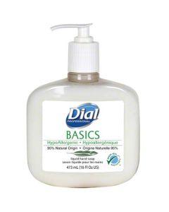 DS-06044 SOAP HND DIAL WHT PUMP 12/16Z BASICS HYPOALLERGENIC