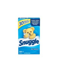 DS-45115 SNUGGLE 2223970 FABRIC SOFTNER DRYER SHEET BLUE SPARKLE 120/BOX EA