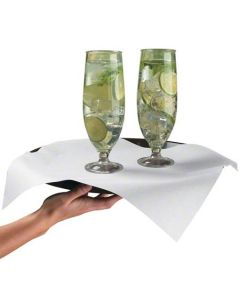 HM-288155 NAP DINNER WHT 16X16 FLAT LINEN-LIKE 618PF 1000/CS
