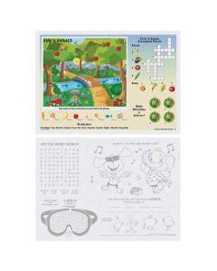 HM-310693 PLACEMAT 10X14 FUN AND GAMES KIDS ACTIVITY PRT 1000/CS