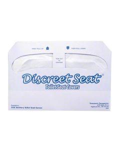 HS-DS-5000 COVER TOILET SEAT HALF FOLD 250/PK 20/CS DISCREET