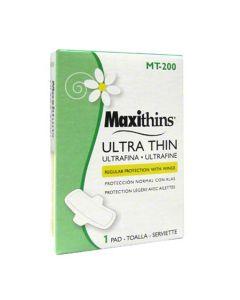 HS-MT-200 SANITARY NAP MAXITHIN ULTRA THIN PADS W/WINGS 200/CS