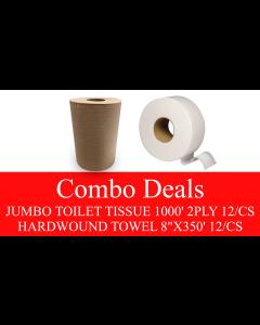 NP-JTHWTCOMBO JUMBO TOILET TISSUE & HARDWOUND TOWEL KRAFT COMBO DEAL