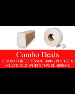 NP-JTPMFCOMBO JUMBO TOILET TISSUE & MULTIFOLD TOWEL COMBO DEAL