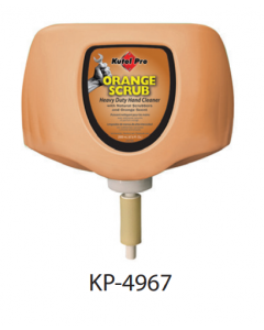 KP-4967 KUTOL PRO ORANGE SCRUB HAND CLEANER W/ SCUBBERS 2000mL 4/CS