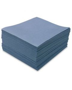 "MDI-92109 SUPER RAG BLUE SMOOTH SPUNLACE 12""X13"", 1/4 FOLDED, POLY 50, 1,000 COUNT, CS"