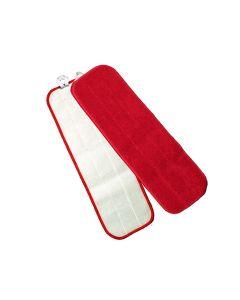 "MFFM18RD KNUCKLE BUSTER MICROFIBER VELCRO FLAT MOP, RED, 18"" EA"